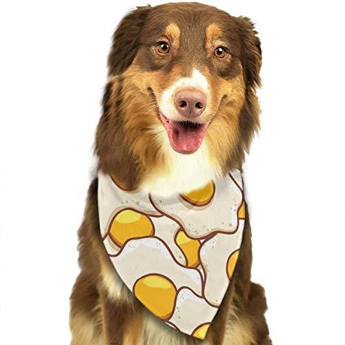 Dog Bandana Funny Eggs Pattern Triangle Bibs Scarf