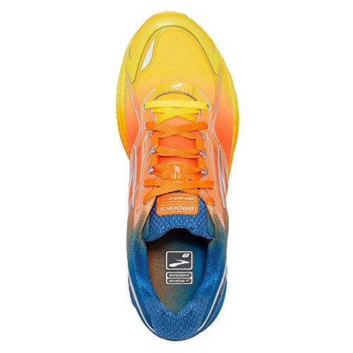 Brooks Herren Laufschuh Ghost 8 110198 1D 879 Blazing Yellow/Orange Peel/sky (45)