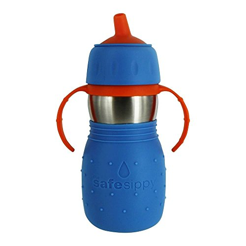 Kid Basix Safe Sippy Cup, The Original Stainless Steel Sippy Cup, Blue, 11oz