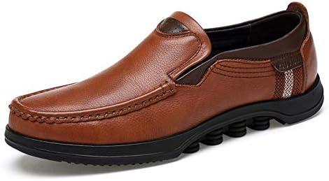男性用フォーマルシューズスリップオンスタイル本革ファッションステッチハンドラテールラウンドトゥオックスフォードシューズ 快適な男性のために設計