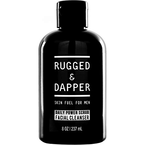 RUGGED & DAPPER Face Wash for Men, Daily Scrub and Facial Cleanser and Toner in One, Combats Aging and Breakouts, Organic and Natural Ingredients, 8 Ounces