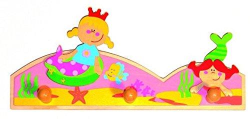 GARDEROBE KINDER KLEIDERHAKEN 3 HAKEN Prinzessin Princes Meerfungfrau Mädchen Kinder-Land