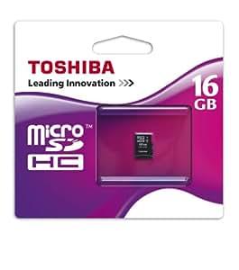 Toshiba - Flash memory card - 16 GB - microSDHC