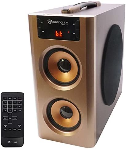 Rockville RHB70 Home Theater Compact Powered Speaker System w Bluetooth USB FM