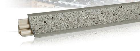 270m kchenabschlussleiste 23x23 mm granit hell f kchen arbeitsplatten inklgrundprofil bei - Kchen Mit Weien Schrnken Und Arbeitsplatten Aus Granit