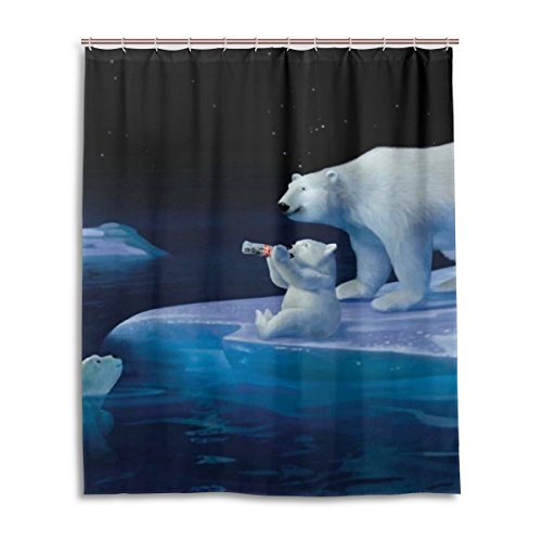Coca cola curtains for sale only 4 left at 75 - Bathroom coca cola shower curtain ...