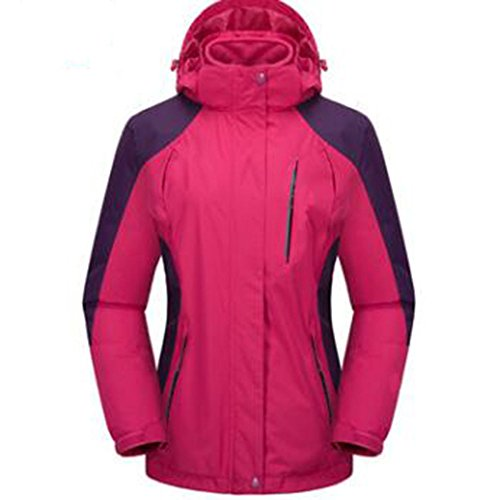 Aumenta Outdoor Mountaineering Extra Velluto Plus Mezza One Età Lai Spesso In Wu Three Ladies Fertilizzante Giacche Large Di Rosered Wear xZwAqCOz