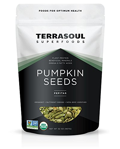 Terrasoul Superfoods Organic Pumpkin Seeds, 2 Pounds (Pepita Seeds)