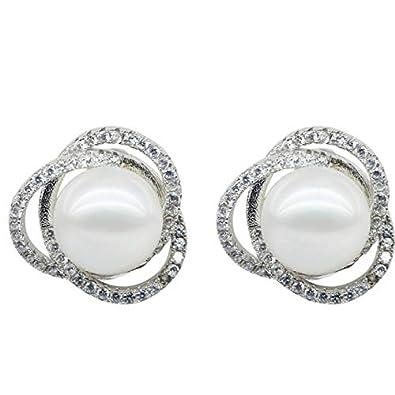 c929da3a01dc Pendientes de perlas de Ritzo by m con perlas de botón AAA para mujer