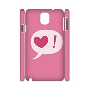 case Of Love Pink 3D Bumper Plastic customized case For samsung galaxy note 3 N9000