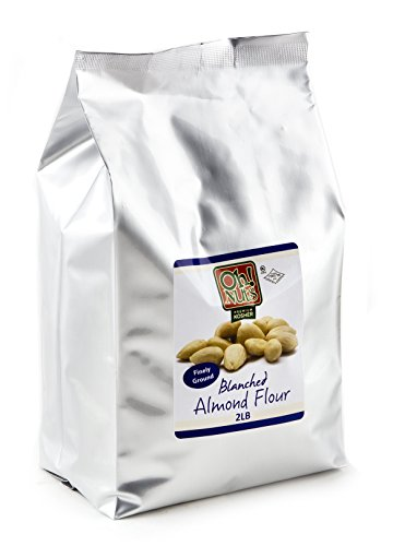 2LB Almond Flour Blanched, Gluten Free Flour, Extra Fine Ground Almond Meal - Oh! Nuts (2 LB Bag (Raw Almonds Blanched Organic)