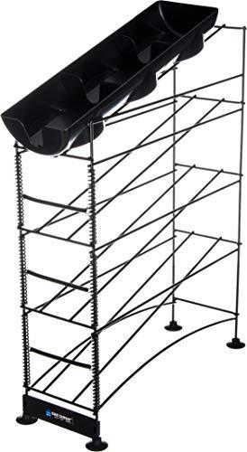 San Jamar Wireworks Cup Dispenser and Lid Organizer, 2-Tier,