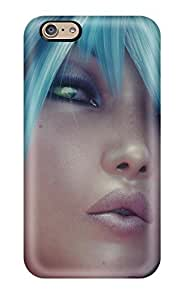 Tough Iphone IkCXkNF11325FUuZe Case Cover/ Case For Iphone 6(turquoise Hair)(3D PC Soft Case)