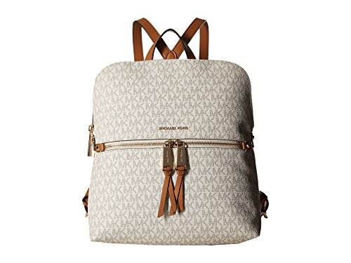- MICHAEL Michael Kors Rhea Medium Slim Backpack (Signature Vanilla)