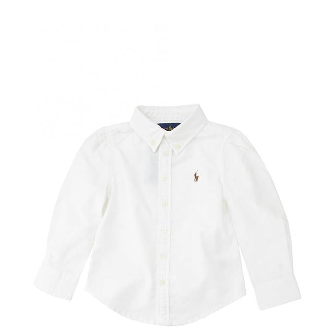 Polo Ralph Lauren Childrenswear - Camisa - para bebé niño blanco blanco   Amazon.es  Ropa y accesorios da7959d0dfe9f