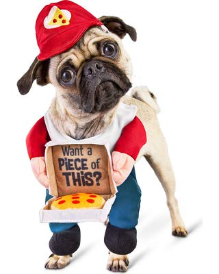 Bootique XS Dog Costume Cheezy Delivery Pup Pizza Hat You Want A Piece of This? -