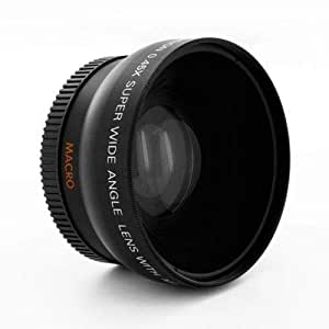 RICHARM 58mm 0.45x Wide Super High Resolution Deluxe Dgtl Lens 10X MACRO LENS 58 mm