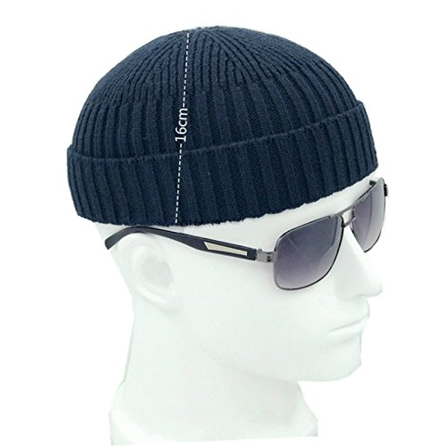 YOUMU Fashion Fall Winter Knitted Hat Skull Cap Sailor Cap Cuff Beanie Vintage for Men Women