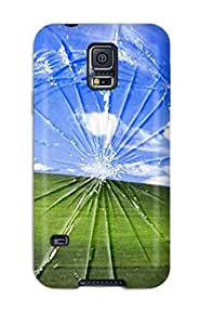 Hot HhupSkP6683chgHQ Funny Broken Window Tpu Case Cover Compatible With Galaxy S5