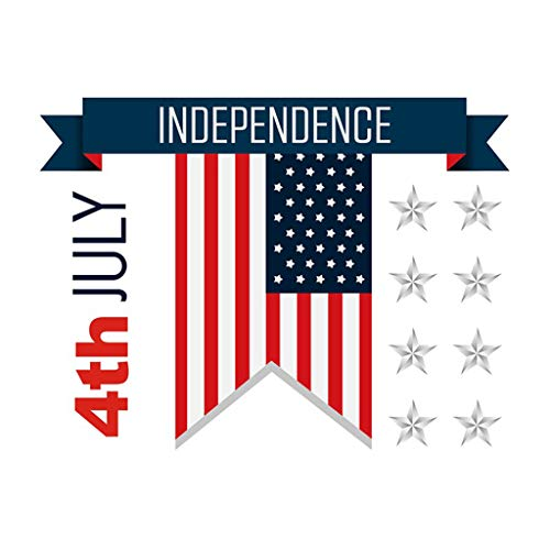 Independence Day Decorations Wall Stickers USA Flag Print 4th July Stars and Stripes Wall Graphic Decals Stickers Patriotic Inspire Murals Art Decor for Livingroom Dorm