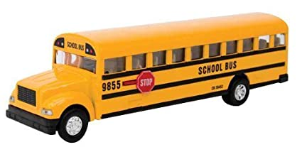 amazon schylling large school bus die cast toy by schylling