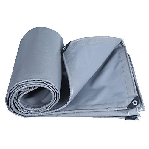 統治可能ぴかぴかオセアニアQIANGDA オーニング 防水 園芸 日焼け止め 防風 トラック 防塵の 厚い暖かい 耐摩耗性 抗酸化、 PVC、 厚さ0.45mm、 550g / m 2、 12サイズのオプション ( 色 : グレー , サイズ さいず : 3x4M )