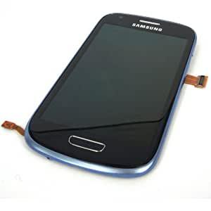 Generic Full Panel Lcd Display Touch Digitizer Glass W/ Bezel Frame Compatible For Samsung Galaxy S3 Mini I8190 Blue