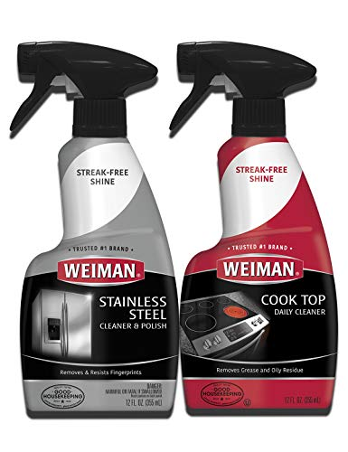 Weiman Stainless Steel Cleaner and Cooktop Daily Cleaner