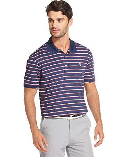 IZOD Men's Golf Short Sleeve Stripe Polo, Club Blue S2019, Large ()