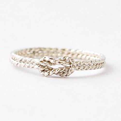 a994582c7ba90 Silver Nautical Sailors Knot Ring