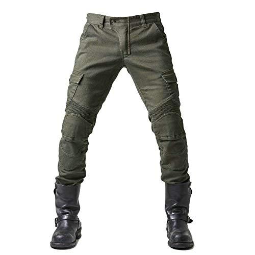 Herren Slim Fit Motorrad Jeans Mit Protektoren Knie und Hüftprotektoren Stretch Slim Fit Denim Motorradhose Anti-Fall…