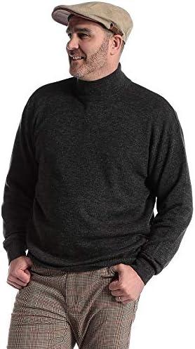 サカゼン B&T CLUB 大きいサイズ メンズ 静電気緩和 ウール混 ゴム地ハイネック セーター