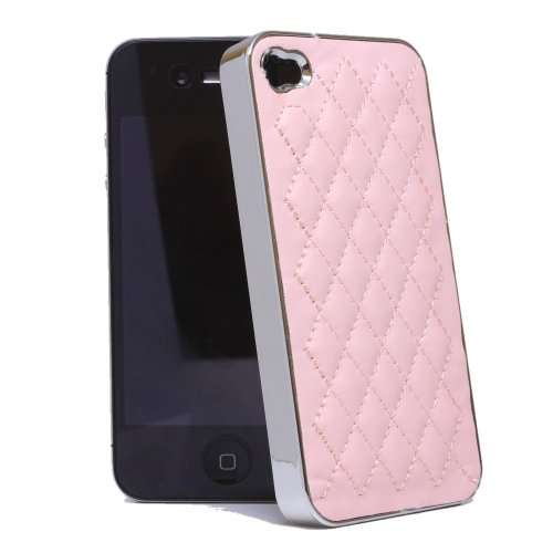 - KaysCase Chantal Leatherette Designer Snap-on Cover Case for iPhone 4/4S (Pink)