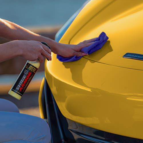 Shine Armor Car Wax with Carnauba Wax - Liquid Spray Wax for Car - Hybrid Hydrophobic Car Polish and Car Shine Spray - Spray Wax Car Sealant & Paint Protection - Fast Auto Car Wax Spray Coating