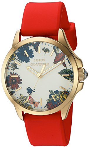 Juicy Couture Women's White Gold Silicone Strap Watch - 6