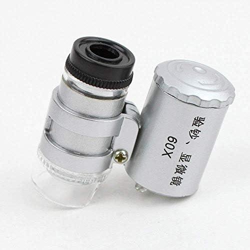 ZY-YY 60倍ポータブルズームLEDライト拡大鏡、UV偽造ライト、多目的