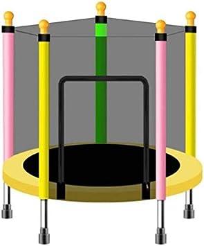 BZLLW Cama elástica, trampolín de Fitness, con Caja Neta de Salto Mat y Primavera Cubierta de Relleno, Juguete de la educación Juguetes y Juegos for bebés niños ( Color : Yellow )