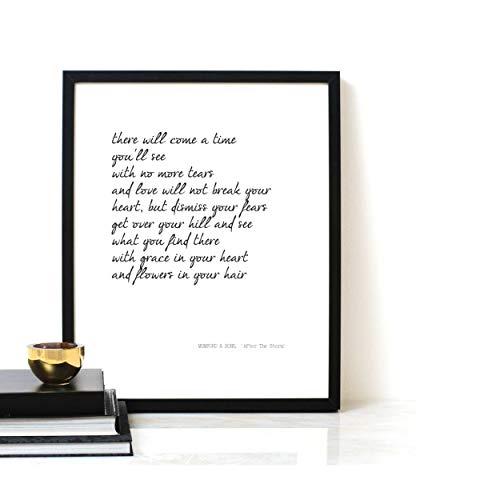 Poster Lyrics - Printable Quote, MUMFORD & SONS,