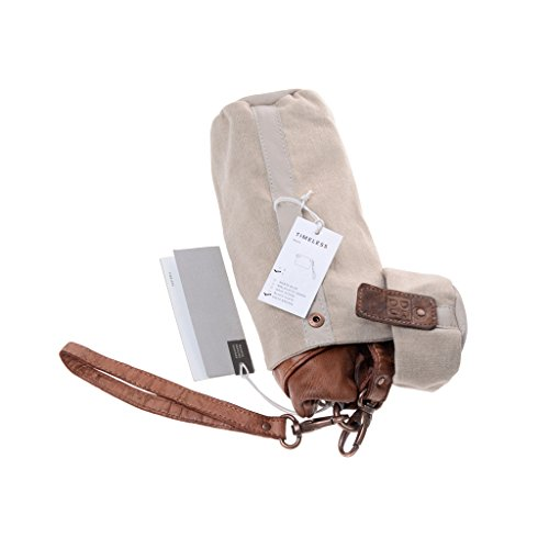 Pochette donna grande in pelle laccetto da polso e tracolla DUDU Onyx Brown