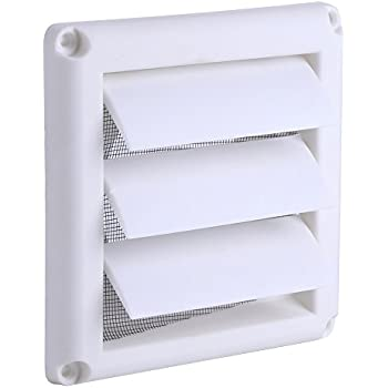 Plastic Wall Vent With Fixed Louvers 8 Inch White