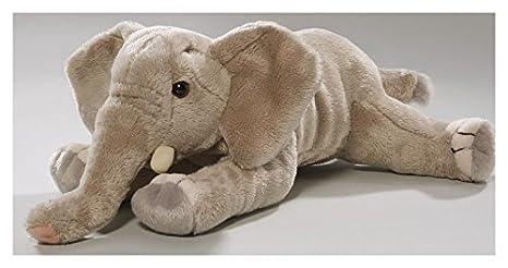 Carl Dick Elephant lying 8 inches, 20cm, Plush Toy, Soft Toy, Stuffed