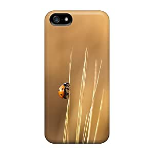 Rugged Skin Cases Covers For Iphone 5/5s- Eco-friendly Packaging(lady Beetle)