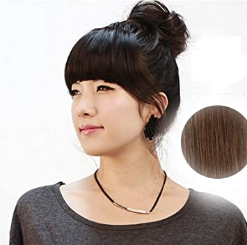 Fringe Clip In Hair Extension 100 Human Forelock Wig Instant Hairpieces