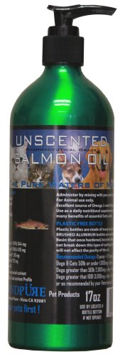 Iceland Pure Unscented Pharmaceutical Grade Salmon Oil For Dogs And Cats.Bottle Size 17Oz