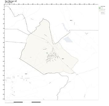 Amazon.com: ZIP Code Wall Map of San Manuel, AZ ZIP Code Map ... on wickenburg map, payson map, kearny az map, marana map, tempe map, maricopa map, tonto basin map, prescott map, vicksburg map, scottsdale map, buckeye map, nogales map, florence map, sahuarita map, flagstaff map, casa grande map, sierra vista map, navajo map, jerome map, apache junction map,