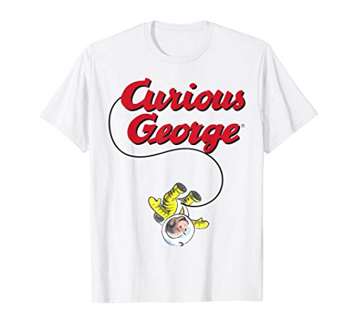 Curious George In A Space Suit Logo T-Shirt -