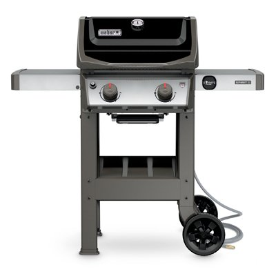 t II E-210 Gas Grill NG Outdoor, Black (2 Burner Natural Gas Grill)