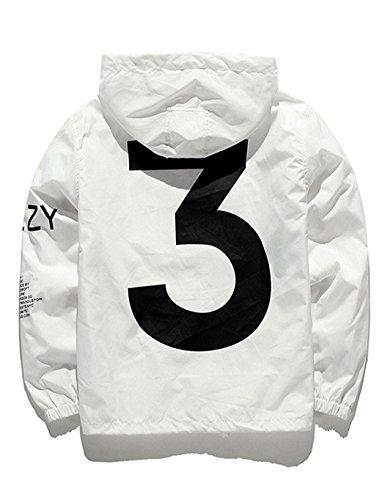 Bifast Mens Waterproof Front-Zip Lightweight Hoodie Hiking Outdoor Raincoat Jacket Pocket S-XL