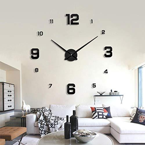 Susens DIY Practical Electronic Wall Hanging Clock Wall Sticker Clock Wall Clocks
