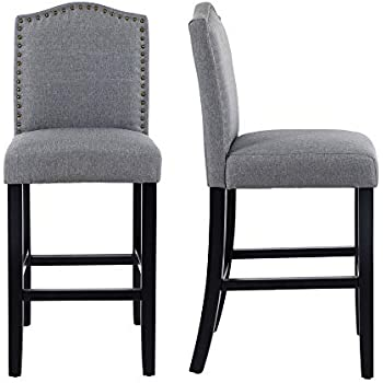 Remarkable Amazon Com Gotminsi Nailhead 24 Counter Height Stools Andrewgaddart Wooden Chair Designs For Living Room Andrewgaddartcom